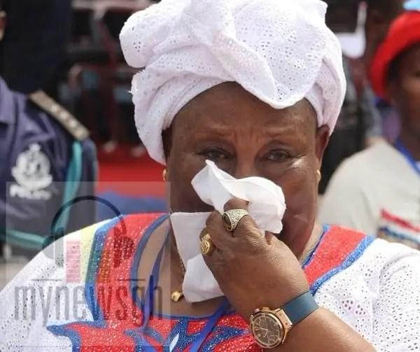 Hajia Fati weeps at NPP Extraordinary Delegates Conference