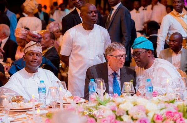 More photos: Bill Gates, Adenuga, Akufo-Addo attend Dangote's girl's wedding finale
