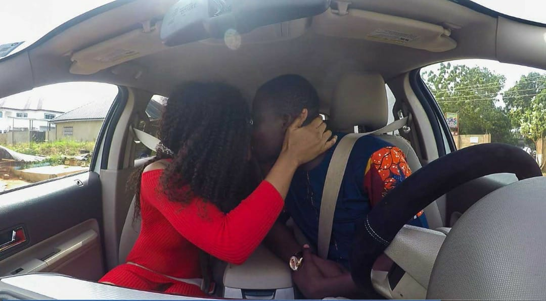 PHOTOS: Celebrity blogger Zionfelix caught kissing actress Baby Blanche in a car