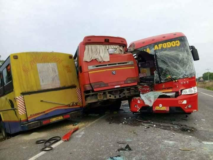 20 feared dead in ghastly Sunday accident on Buipe-Tamale road