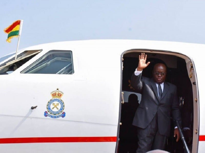 Akufo-Addo jets off to UK for 25th Commonwealth Heads of Government Meeting
