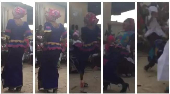 VIDEO: Kumasi Sawaba Amalya's high heels fails her as she falls flat on dance floor