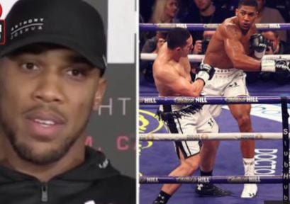 After defeating her son in front of her, see what Anthony Joshua told Parker's mum