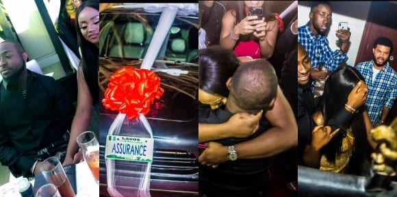 Davido gifts his Girlfriend Chioma a Porsche for her 23rd Birthday, says it's an 'ASSURANCE'