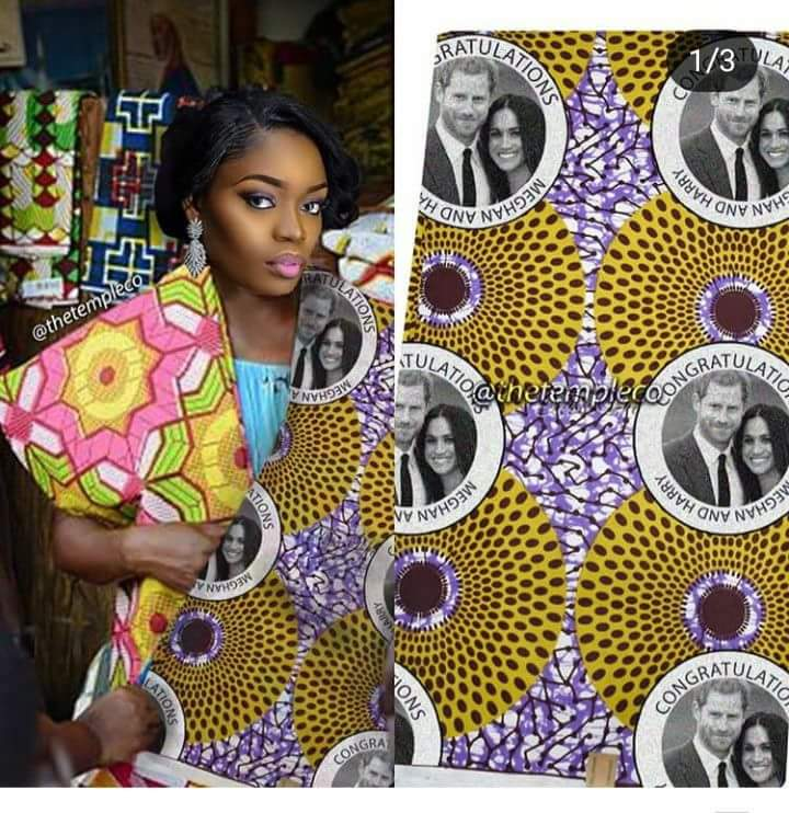 Royal Wedding fabric appears on Ghanaian textile market hot
