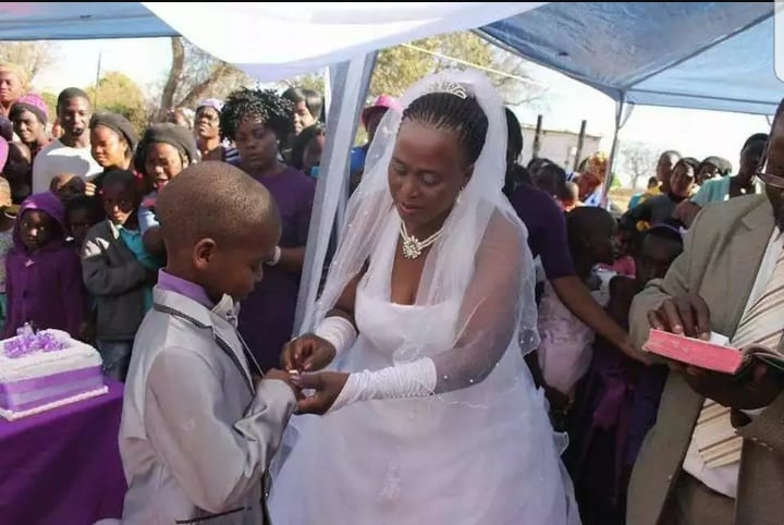 62 year old woman who married 9-year-old boy in 2014 is 4 months pregnant!