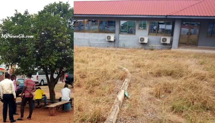 Abandoned ICT Centre and Staff off Kwadaso Assembly sitting under a tree