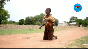 Agnes Mba is a 9-year-old girl in the Nabdam District, Upper East Region