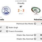 Live result palestine vs india international friendly 6/10/2014