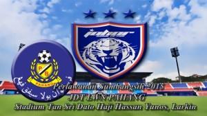 piala sumbangsih 2015, jdt vs pahang 2015, poster jdt vs pahang piala sumbangsih 2015,
