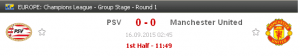 manchester united vs PSV, poster psv, manchester united 2015,