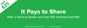 Make money with Ebates refer-a-friend