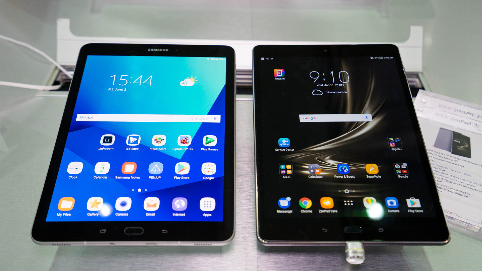 Comparison: Samsung Galaxy Tab S3 vs  ASUS ZenPad 3S 10