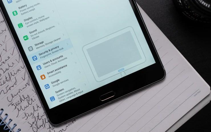 Huawei MediaPad M5 8 Fingerprint Scanner