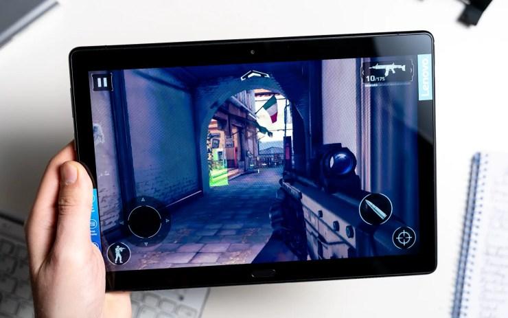 Lenovo Tab P10 gaming test