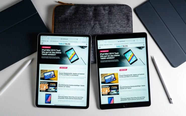 iPad Air vs iPad Pro Safari Comparison