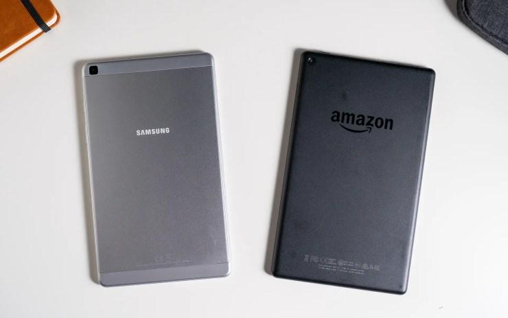 Samsung Galaxy Tab A 8.0 vs Amazon Fire HD 8 design