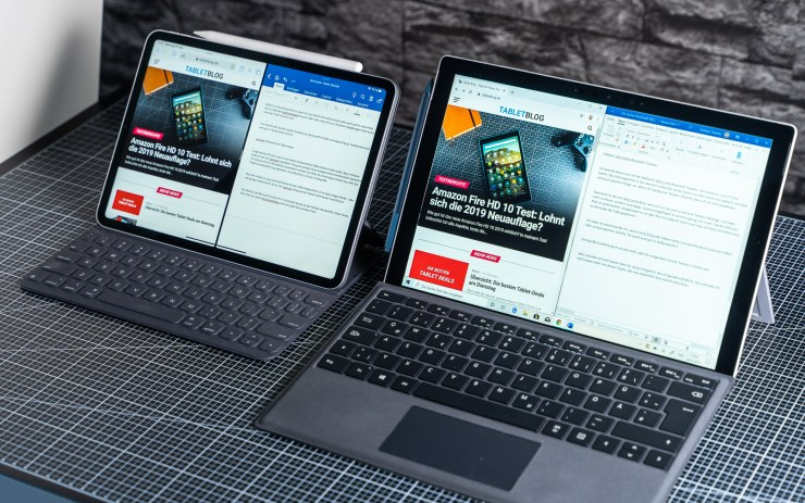 Microsoft Surface Pro 7 vs. Apple iPad Pro Multitasking