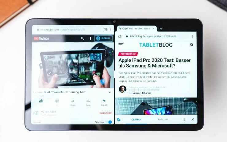 Huawei MatePad 10.4 multitasking