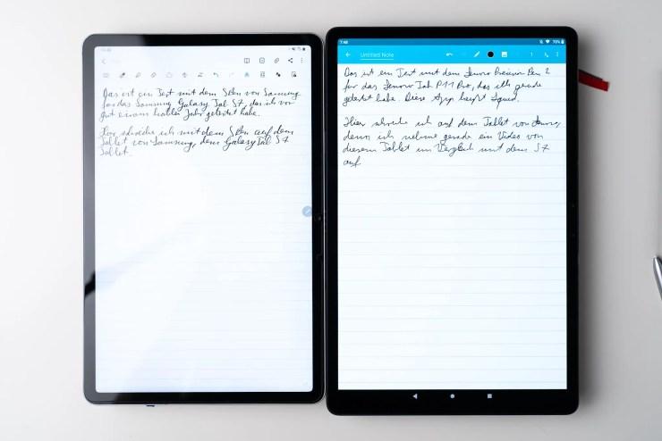 Lenovo Tab P11 Pro vs Samsung Galaxy Tab S7 notes