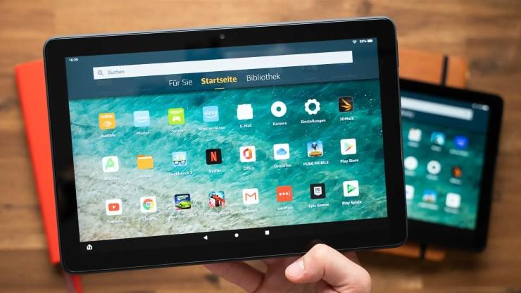 Amazon Fire HD 10 Plus display