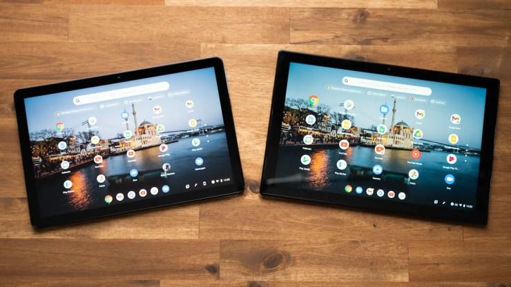 Lenovo Duet Chromebook vs. ASUS Chromebook CM3 display