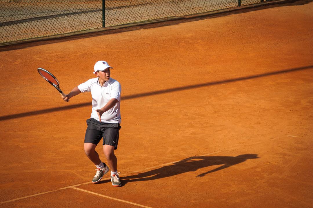 Juien on the court
