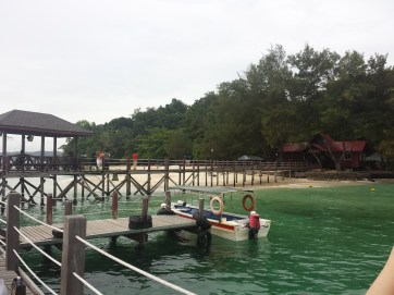 Sapi Island, view from the dock