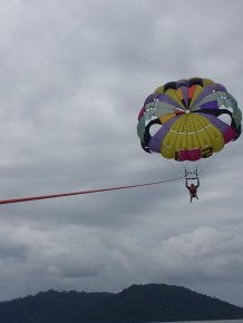 That's my sister parasailing