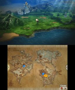 The lush overworld of Luxendarc.