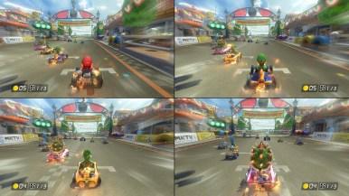 Split screen for battle mode.
