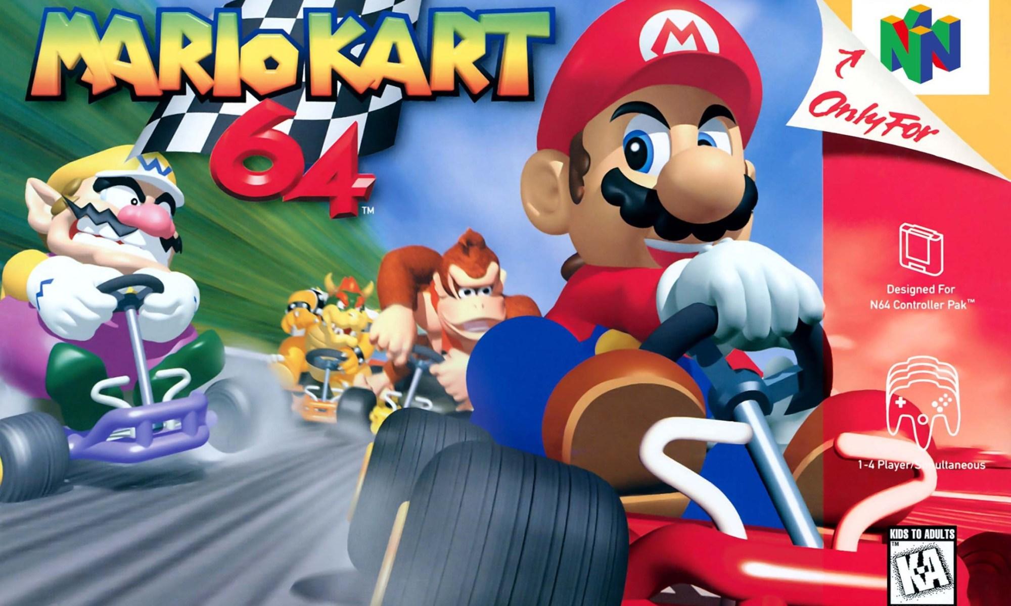 Mario Kart 64 box-art