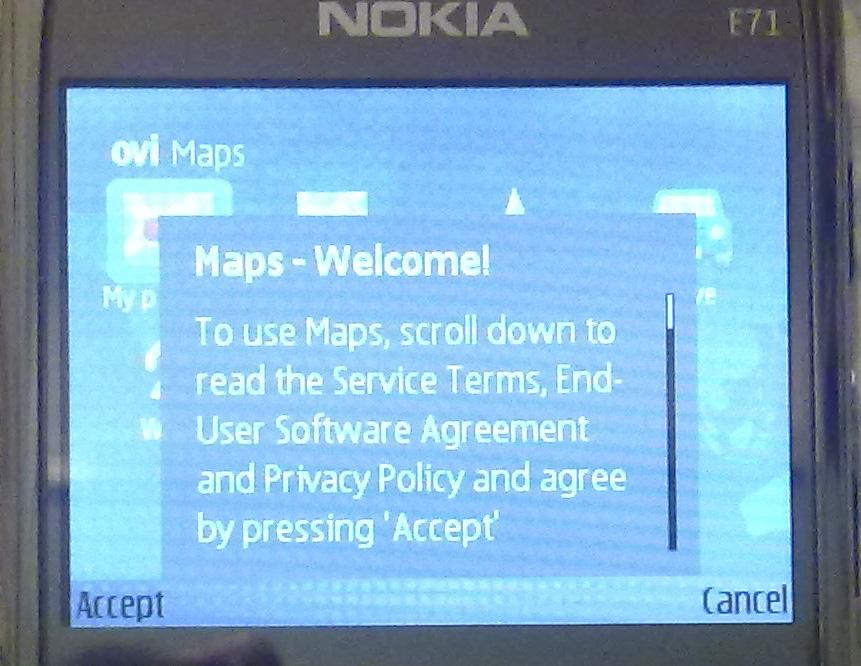 07. Ovi Maps 3.03 on E71