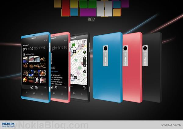 3 colors-Lumia 802
