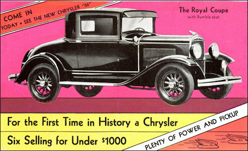 1930 Chrysler 66 Royal Coupe