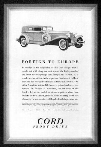 1931 Cord ad
