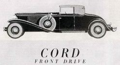 1931 Cord Cabriolet l-29 coupe