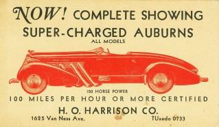1935 Auburn Speedster ad