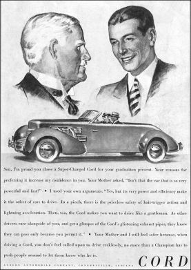 1937 Cord 812 Convertible Phaeton Sedan ad