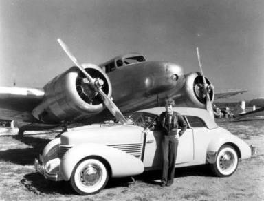 1937 Cord Phaeton and Lockheed Electra
