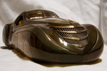 1939 Duesenberg Coupe Simone Midnight Ghost Diecast Car