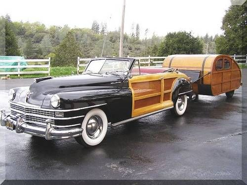 1947 Chrysler Town and Country Convertible Woody with Trailer