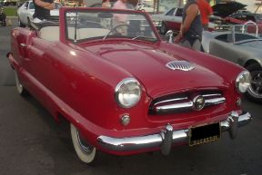 1955 Nash Metropolitan photographed in Montreal, Quebec, Canada at Gibeau Orange Julep