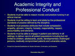 academic and professional integrity