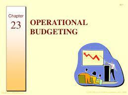 an operational budget presentation