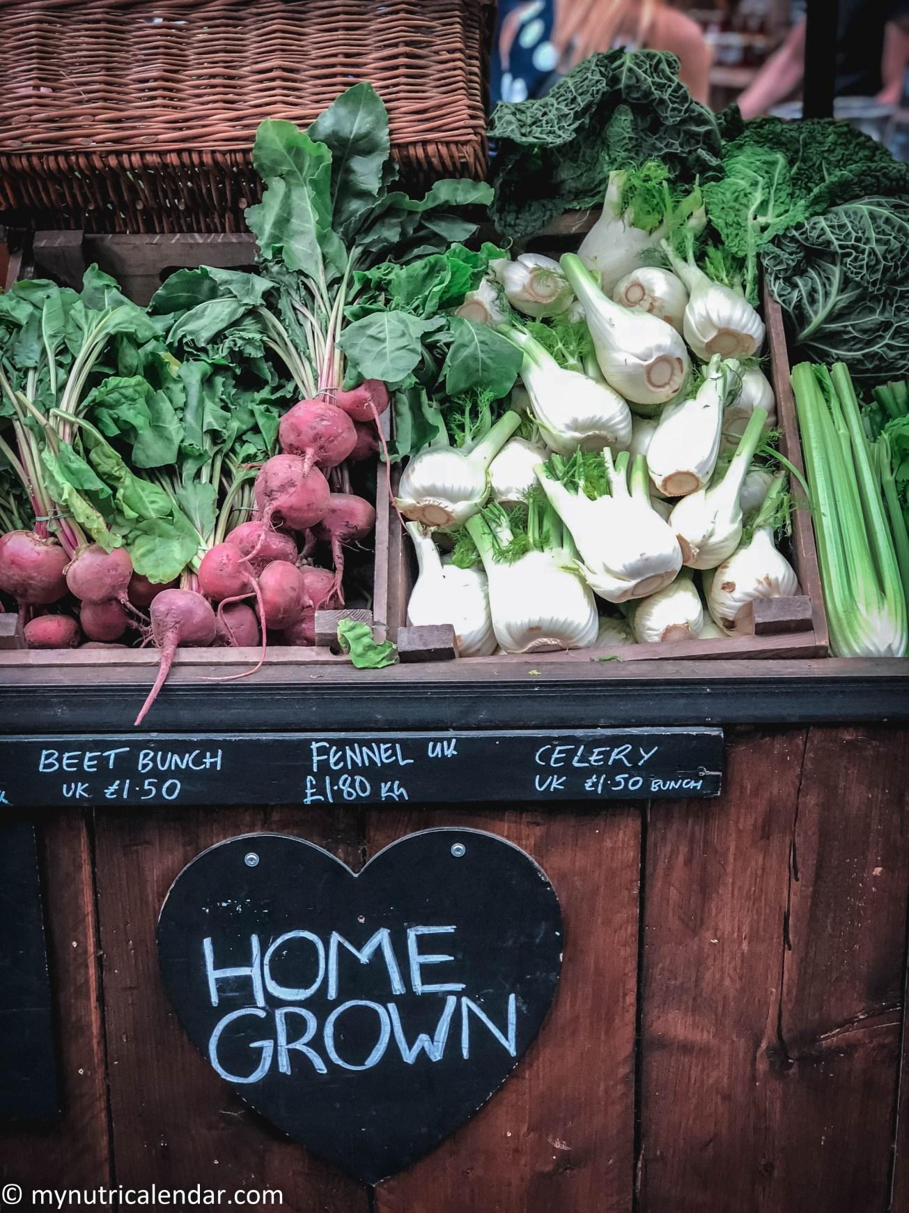 Borough Market London vegetables organic