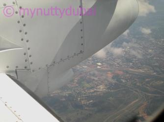 Flying into Mozambique