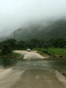 Flooded road on our mini tour
