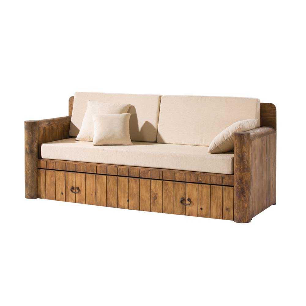 Sofs y sillones rsticos de madera  Blog Myoc Muebles