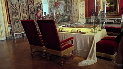 The room where the King and Queen would publicly eat their dinner.